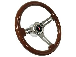 1969 - 1994 Oldsmobile S6 Sport Mahogany Wood Steering Wheel Kit | Rocket Emblem