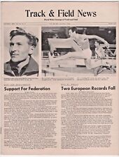 1961 Track and Field News European Pole Vault 440 Hurdles Records No Label