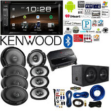 Kenwood double Din 6.2 inch Touchscreen 4G AMP Kit Car audio package