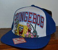 SPONGEBOB SQUARE PANTS SNAPBACK  EMBROIDERED Flat Bill Hat Licensed Nickelodeon