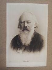 antique post card JOHANNES  BRAHMS