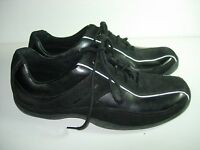 WOMENS BLACK SUEDE CLARKS OXFORDS FASHION SNEAKERS ATHLETIC SHOES SIZE 8.5 M