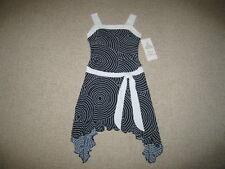 """NEW """"Navy Silky Dot"""" Flowy Dress Girls Clothes 7 Spring Summer Easter Kids Tween"""