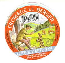 Etiquette de Fromage Ancienne    Camembert  Le Berger   No 336