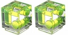 Two 3 Axis Sony / Maxxum Shoe Mount Cube Bubble Spirit Level Yellow Hiro NEW