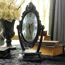 Haunted House Animated Halloween Mantle Clock Skull Appears Decoration Prop