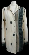 JACQUES VERT Women's Shirt Cream White Printed Smart Casual Work Size 12 VGC