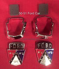 1950 1951 Ford Shoebox Hood & Trunk Deck Emblem Kit