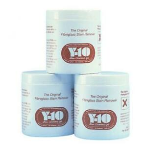 Y10 Fibreglass GRP Cleaner and Stain Remover Gel Boat Caravan or Motorhome