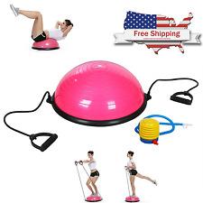 "Pink 23"" Inch Bosu Balance Ball Yoga Fitness Gym with Pump BNIB Free Shipping"
