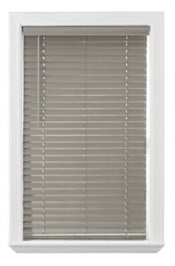 """Better Homes & Gardens 2-inch Cordless Faux Wood Blinds, Rustic Gray 32"""" x 64"""""""