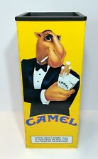 JOE CAMEL CIGARETTES HARD PACK METAL ASHTRAY ORIGINAL VINTAGE ADVERTISING 1992