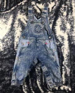 RARE Vintage Oshkosh Denim Baby Infant overalls Size 3-6 Mos