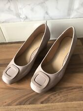 Roberto Vianni Nude Pink Ladies Wedge Shoe Size 6 / 39 New Without Box Summer