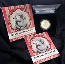 2011 ONE DOLLAR SILVER PROOF -*RAMS HEAD DOLLAR* - PURE SILVER