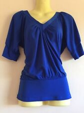 Jacqui E Polyester Short Sleeve Machine Washable Tops & Blouses for Women