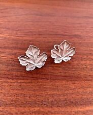 Silver Clip Earrings: Hammered Leaf 1981 Rare Vintage Tiffany & Co. Sterling