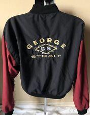Vintage 90s George Strait Jacket Coat Men's Size S Black Sheep Zip Up USA MADE