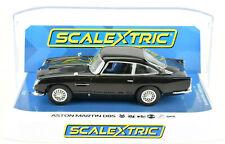Scalextric Gloss Black Aston Martin Db5 Dpr W/ Lights 1/32 Scale Slot Car C4029