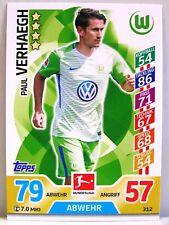 Match Attax 2017/18 Bundesliga - #312 Paul Verhaegh - VfL Wolfsburg