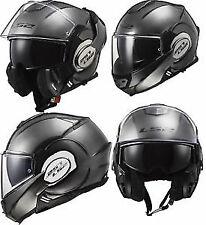 S Flip up chin guard LS2 Vailiant Jeans Full Face Road Motorbike Helmet Titanium