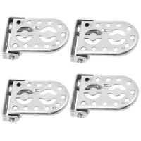 2 Pairs Bike Rear Foot Peg Rest Foldable Bicycles Cycling Metal Footrest