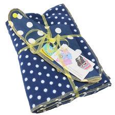 New Cornish Daisy Navy and White Polka Dot Dribble Bib and Blanket Set