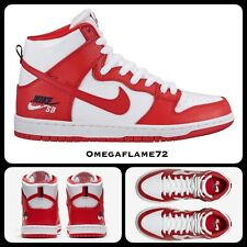 Nike SB Dunk High Pro, 854851-661, Tailles UK 11, Eur 46, USA 12, blanc, rouge