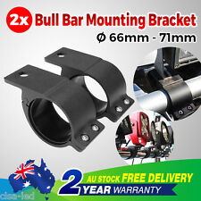 2.5''Pair Bullbar Mounting Bracket Clamp 66-71mm LED Work Light Bar UHF Antenna