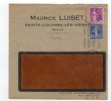 France 2 timbres sur lettre tampon Isère /L865