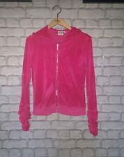 Ladies JUICY COUTURE Velour Full Zip Hoodie Track Jacket Size Large