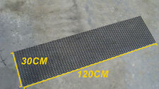 UNIVERSAL 3D HONEYCOMB ABS PLASTIC BLACK MESH GRILL 120 X 30 CM