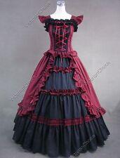 Victorian Gothic Fantasy Southern Belle Vampire Dress Halloween Costume N 085 M