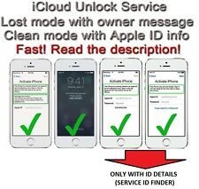 iCloud Removal Service , iPhones all models and iPads SEE MY FEEDBACK !!!