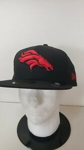 🔥🔥 OFFICIAL DENVER BRONCOS NFL NEW ERA FITTED 7 5/8 3/4 RED LOGO HAT🏈🏈