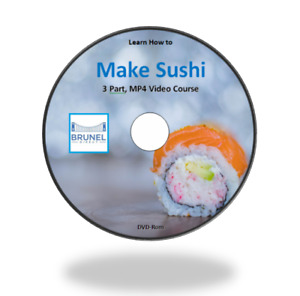 How to Make Sushi, Learn from home, 3 Part Video Course on DVD-Rom and D/L Link