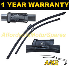 "FOR AUDI A4 MK3 2007 ON DIRECT FIT FRONT AERO WIPER BLADES PAIR 24"" + 20"""