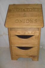 potatoe and onion bin   regular style now with 2 drawers and bottom design