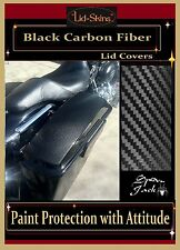 Paint Protection Saddlebag/hard bag Lid Covers for 94-2013 Harley-Davidson BLCK