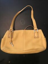 Vintage FOSSIL KEY BLACKBURN Yellow Pebbled Leather  Purse Handbag Shoulder