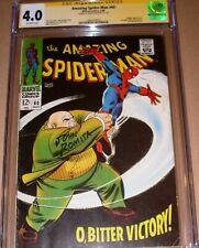 Amazing Spider-Man #60 CGC SS SIGNED John Romita Sr Marvel 1968 Kingpin cover