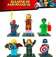 6 Set Super Heroes Lego minifigures Marvel Avengers Endgame Superhero Figures