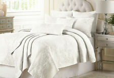 Vintage Cotton Quilted Bedspread Coverlet Throw Blanket -3pcs Double King Queen