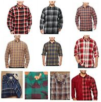 Foundry Men's Shirt LS Plaid Flannel XLT, 2XL, 2XLT, 3XL 3XLT 4XL or 4XLT, New
