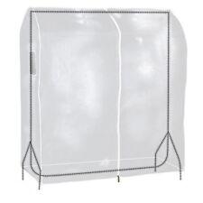 Hangerworld™ 4ft Clear Clothes Rail Cover Garment Coat Hanger Protector Storage