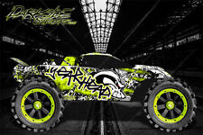"TRAXXAS RUSTLER GRAPHICS DECALS WRAP ""GEAR HEAD"" FITS OEM BODY PARTS"