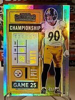 2020 Panini Contenders Football T.J. Watt Championship Ticket Parallel #42/99