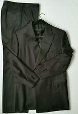 Ermenegildo Zegna Trofeo 100% Wool Black Striped Tuxedo Suit Neiman Marcus 54 R