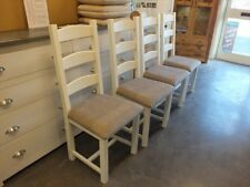 X1 PAINTED AMISH CHAIR FABRIC SEAT CHOICE OF COLOURS F&B NEW WHITE