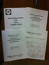 Sunnen HS30 Wet Guide Seat Cabinet - Setup, Operators, and Parts Manuals HS-30